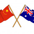 Stock Photo: Chinand Australialliance and friendship