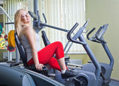 Woman in a gym — Stock Photo