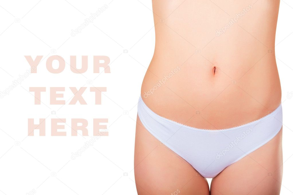 Close-up of the perfect female body isolated on white background — Stock Photo #11424223