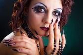 Makijaż moda piękne — Zdjęcie stockowe