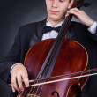 Stock Photo: Cellist