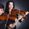 Two violinists — Stock Photo