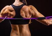 Athleten zurück — Stockfoto