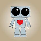 Ledsen robot — Stockvektor