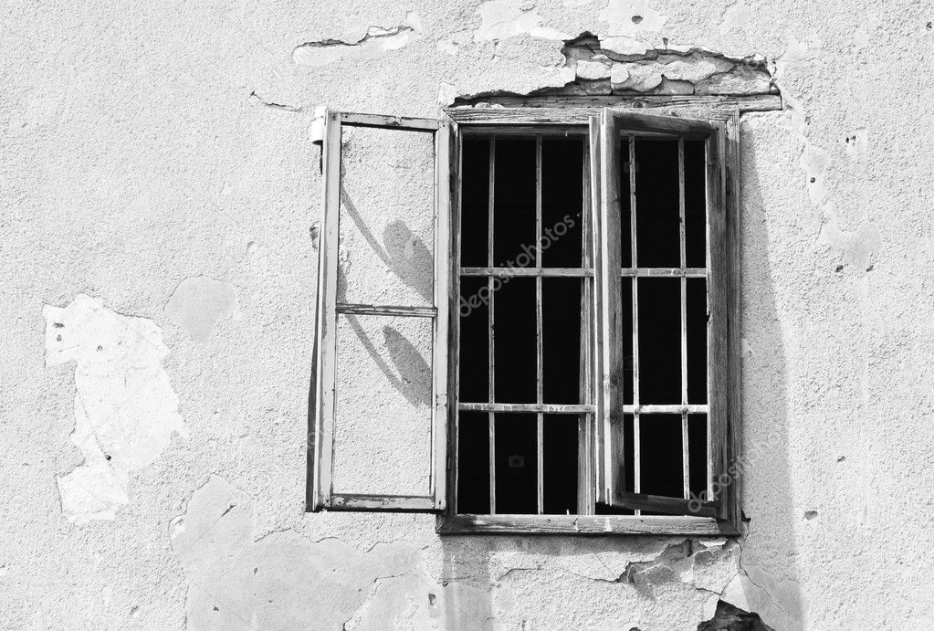 Window of an abandoned prison — Stock Photo #11157379
