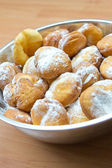 Fresh donuts with sugar — Stock Photo