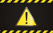 Danger yellow triangle — Stock Photo