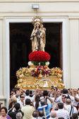 Virgen del carmen a salir de la iglesia — Foto de Stock