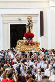 Virgen del Carmen getting out of the church — Stock Photo
