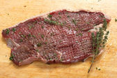 Tenderised rump steak — Stock Photo