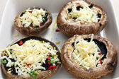 Stuffed portobello mushrooms — Stock Photo