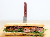 Ciabatta beef sandwich — Stock Photo