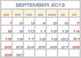 Calendrier septembre 2013 de la Vector — Vecteur