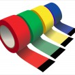 Vector set of Scotch adhesive tape — Imagen vectorial