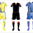 Stock Vector: Abstract Soccer uniforms