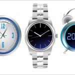 Clock set. Office, digital, timer, stopwatch, alarm. — Stock Vector