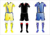 Abstract Soccer uniforms — Stock Vector