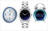 Clock set. Office, digital, timer, stopwatch, alarm. — Stockvektor