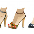 Royalty-Free Stock Vector Image: Fashion woman shoes