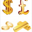 Set of icons on the financial theme — Stock Vector