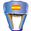 Vector de stock : Boxing helmet under white background