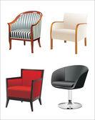 Chair Set — Vetor de Stock