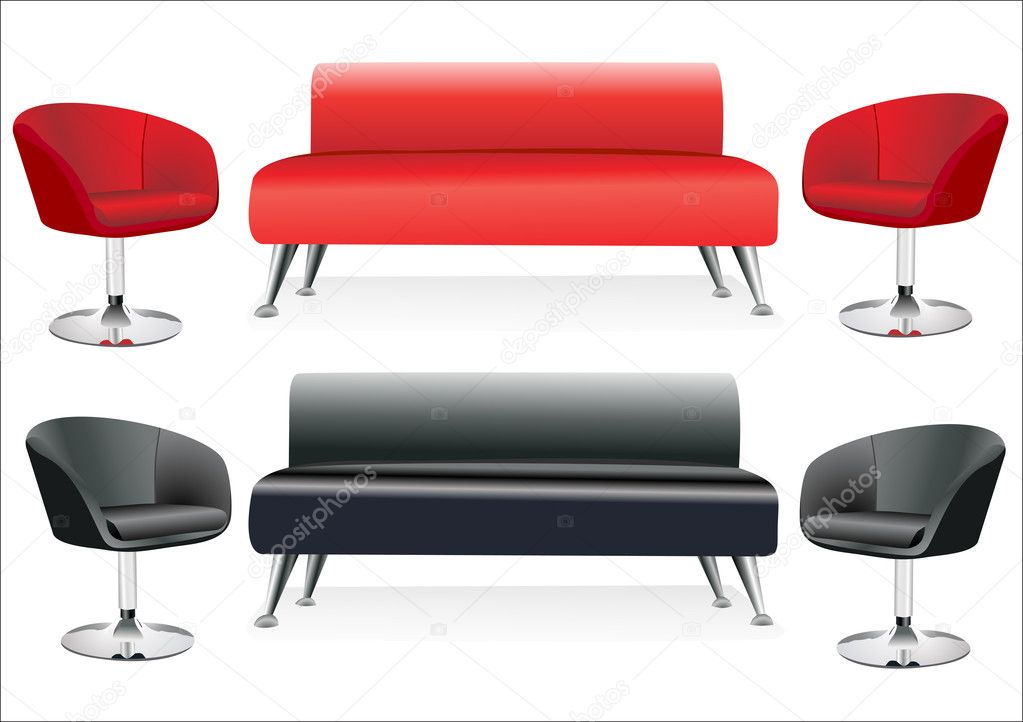 Sofa and two chairs — Stock Vector #11029809