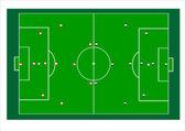 Campo de fútbol — Vector de stock
