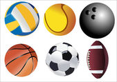 Vector illustration of sport balls — Stock Vector