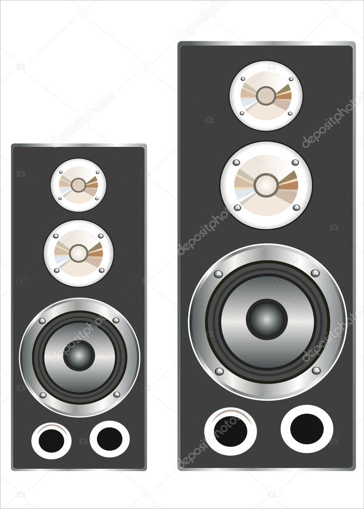 Music speaker isolated on a white background  Stock Vector #11342005
