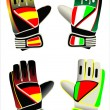 Stok Vektör: Gloves of goalkeeper
