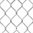 Wire mesh fence — Stock Vector