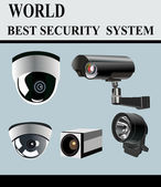 Video Camera Security System isolated — Stock Vector