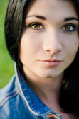 Close up portrait of attractive woman — Stock Photo
