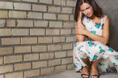 Unhappy depressed woman — Stock Photo
