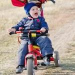 Kid the driver — Stock Photo