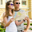 Young couple enjoying a summer vacation — Stock Photo