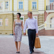 Elegant young couple on vacation — Foto Stock