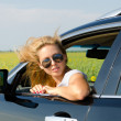 Royalty-Free Stock Photo: Attractive blonde woman with sunglasses