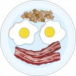Stock Vector: Bacon and Eggs