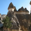 Fairy chimneys, rock formations, near Goreme, Cappadocia, Turkey — Stock Photo