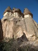 Fairy chimneys, rock formations, near Goreme, Cappadocia, Turkey — Stock Photo