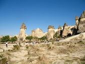 Uchisar cave city in Cappadocia, Turkey — Stock Photo