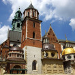 Wawel Cathedral,The Cathedral Basilica of Sts. Stanislaw and Vaclav on the Wawel Hill in Cracow - Stockfoto