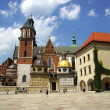 Wawel Cathedral,The Cathedral Basilica of Sts. Stanislaw and Vaclav on the Wawel Hill in Cracow - Stock Photo