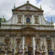 Facade of baroque Church of St Peter and St Paul in Krakow — Stock Photo