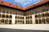 Arcades in Wawel Castle in Cracow, Poland. — Stock Photo