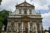 Facade of baroque Church of St Peter and St Paul in Krakow — Foto Stock