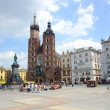 The Main Market Square in Cracow, Old Town, Poland — Stockfoto