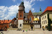Wawel Cathedral,The Cathedral Basilica of Sts. Stanislaw and Vaclav on the Wawel Hill in Cracow — Foto Stock